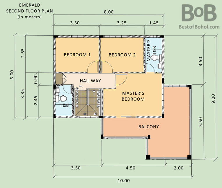 Floor plan of bob 39 s emerald house for rent in camella bohol for Emerald homes floor plans